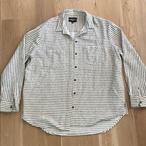 Madewell - Striped Oversized Button Down Shirt
